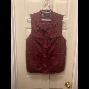 3/20$ max jeans zip snap up vest medium